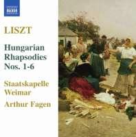 LISZT: 6 Hungarian Rhapsodies Nos. 1 - 6