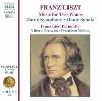 Liszt:  Music for Two Piano Music Vol. 26,  Dante Symphony, Dante Sonata