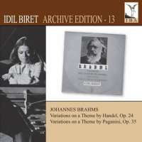 Brahms: Variations and Fugue on a Theme by Handel, Variations on a Theme by Paganini