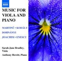 Music for Viola and Piano - Martinů, Kodály, Dohnányi, Joachim, Enescu