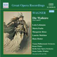 WAGNER: Die Walkure ( 1935-38),