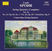 Spohr: String Quartets Vol. 16
