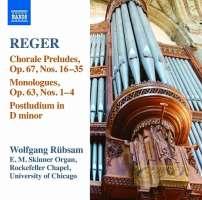 Reger: Organ works Vol. 15