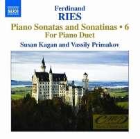Ries: Piano Sonatas and Sonatinas Vol. 6 - For Piano Duet