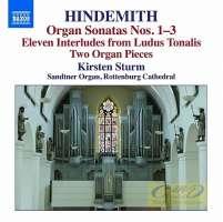 Hindemith: Organ Sonatas Nos. 1 - 3 Eleven Interludes