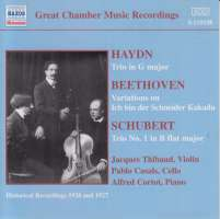 HAYDN / BEETHOVEN / SCHUBERT: Trio, Variatio