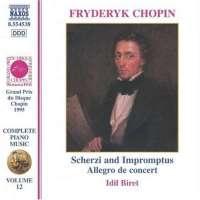 CHOPIN: Piano Music - Scherzi And Impromptus
