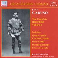 CARUSO, Enrico: Complete Recordings, Vol. 4 (1908-1910)
