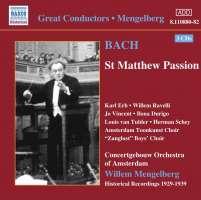 BACH: St. Matthew Passion BWV 244 - 1929-39