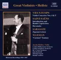 Vieuxtemps: Violin Concertos Nos. 4 and 5 / Saint-Saens / Sarasate / Waxman