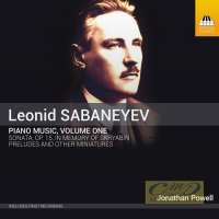 Sabanayev: Piano Music Vol. 1