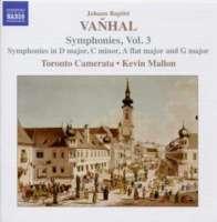 VAŇHAL: Symphonies, Vol. 3
