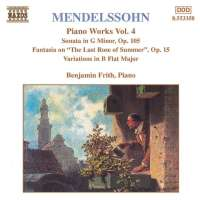 MENDELSSOHN: Piano Works vol. 4