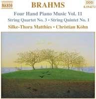BRAHMS: Four Hand Piano Music Vol.11