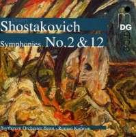 Shostakovich : Symphony no. 2 & 12