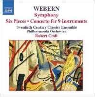 WEBERN: Symphony; Six Pieces; Concerto