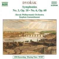 DVORAK: Symphonies no. 3, 6