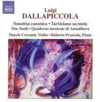 DALLAPICCOLA: Works for violin and piano