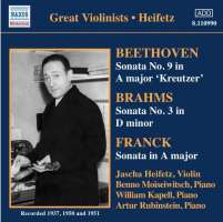 BEETHOVEN / BRAHMS / FRANCK: Violin Sonatas