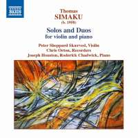 Simaku: Solos and Duos for violin and piano