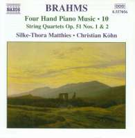 BRAHMS: Four Hand Piano Music Vol.10