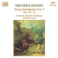 MENDELSSOHN: String Symphony vol. 3