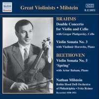 BRAHMS: Double Concerto; Violin Sonata No. 3; BEETHOVEN: Violin Sonata No. 5