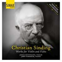Sinding: Works for Violin and Piano