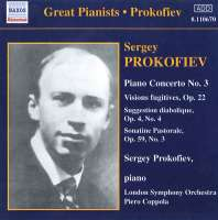 PROKOFIEV: Piano Concerto No. 3, Vision Fugitives