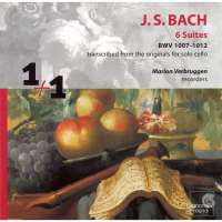Bach: Six Suites BWV 1007-1012 transcribed from the originals for solo cello