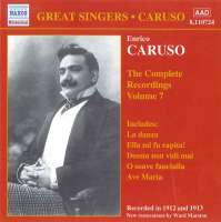 CARUSO, Enrico: Complete Recordings, Vol. 7 (1912-1913)