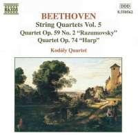 "Beethoven: String Quartets, Vol. 5 (Nos. 8), ""Rasumovsky"", 10, ""Harp"""