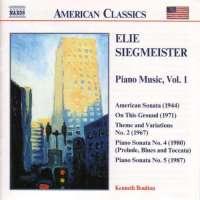SIEGMEISTER: Piano Music vol. 1