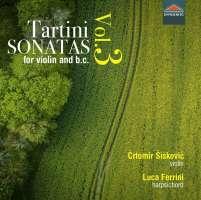 Tartini: Sonatas for violin and basso continuo Vol. 3