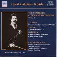 Fritz Kreisler: Complete Concerto Recordings Vol.3