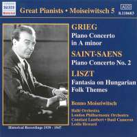 WYCOFANY   GRIEG / SAINT-SAENS: Piano Concertos / LISZT: Hungarian Fantasy