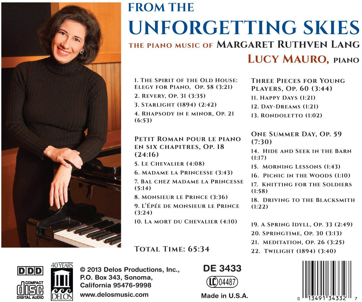 From the Unforgetting Skies: The Piano Music of Margaret Ruthven Lang - slide-1
