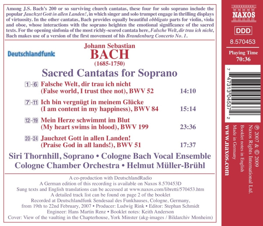 BACH: Sacred Cantatas for Solo - slide-1
