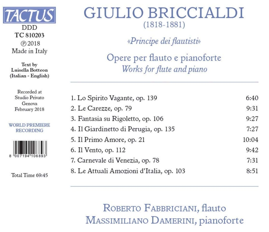Briccialdi: Works for flute and piano - slide-1
